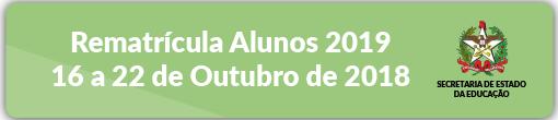 Rematrícula Alunos 2019