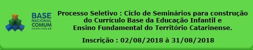 Ciclo de Seminários BNCC SC