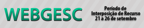 Webgesc - interposição de recurso