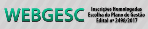 Webgesc - inscrições homologados - edital 2498