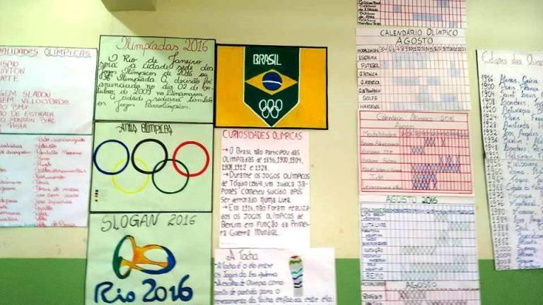 7ee9e4125 Estudantes da EEB Sóror Angélica reproduzem em atividades a história e  importância dos Jogos Olímpicos e Paralímpicos